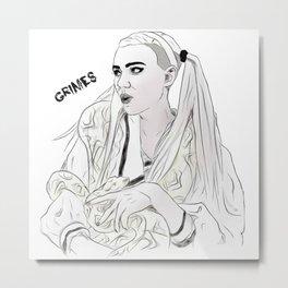 Grimes//Genesis Metal Print