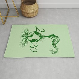 Mother Earth 2020 - Green Rug