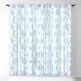 Zen Circles Block Print In Light Blue Blackout Curtain