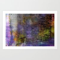 Prayer flag Art Print