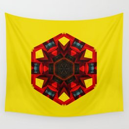 Abstract geometric Hexa Wall Tapestry