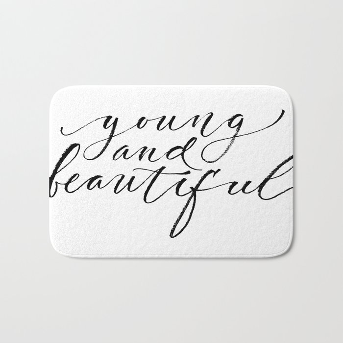Young and beautiful Bath Mat
