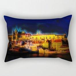 Fractal Prague castle glow UV Rectangular Pillow