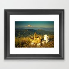 Coffee on Courtney Ridge Framed Art Print