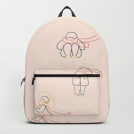 Girl with red scarf Backpack