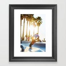 Venice Beach Skate Park 2 Framed Art Print