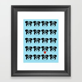 Dogs Blue Framed Art Print