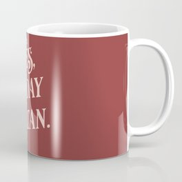 Yes, Today Satan. - muted deep red and blush pink simple typography quote print Coffee Mug