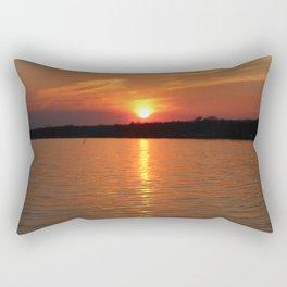 Sunset Over Lake Waccamaw 2 Rectangular Pillow