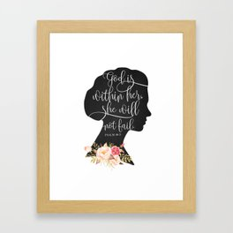 God with Within Her Framed Art Print