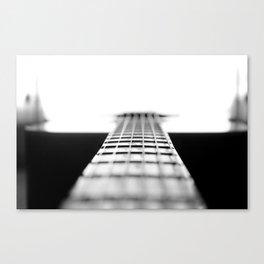 The Black Guitar Canvas Print