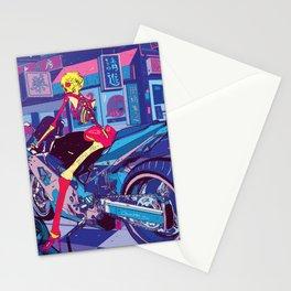 Skeleton biker Stationery Cards