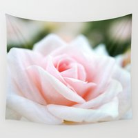 rose Wall Tapestries featuring Rose by Whimsy Romance & Fun