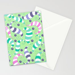 Crazy Twisters Pattern Print Stationery Cards