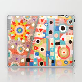 Girl with the flower in hair Laptop & iPad Skin