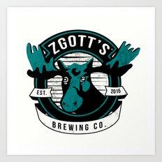 Zgott's Brewing Co. Art Print