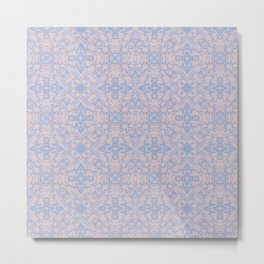 Light pink and blue tapestry 4635 Metal Print