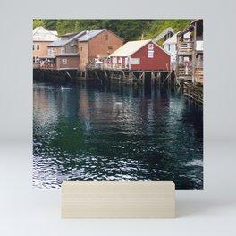 Alaskan Fishing Village Mini Art Print