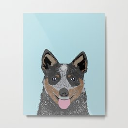 Kellan - Cattle Dog gifts for dog lovers and australian cattle dog gifts for dog person Metal Print