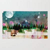 alone Area & Throw Rugs featuring Alone by Jo Cheung Illustration