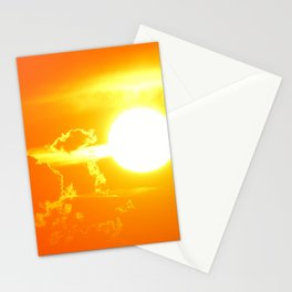 Orange Sunset Stationery Cards