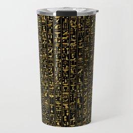 Hieroglyphics GOLD Travel Mug