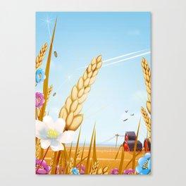 The farm on a sunny day. Canvas Print