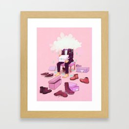 Mr. Confused Framed Art Print