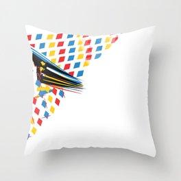 Th3 po!nts of intrust Throw Pillow