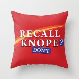 Recall Knope Throw Pillow