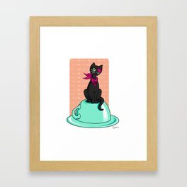 Pirate kitty Framed Art Print