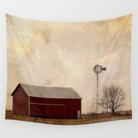 farm Wall Tapestries featuring Farm Life  by Amy J Smith Photography