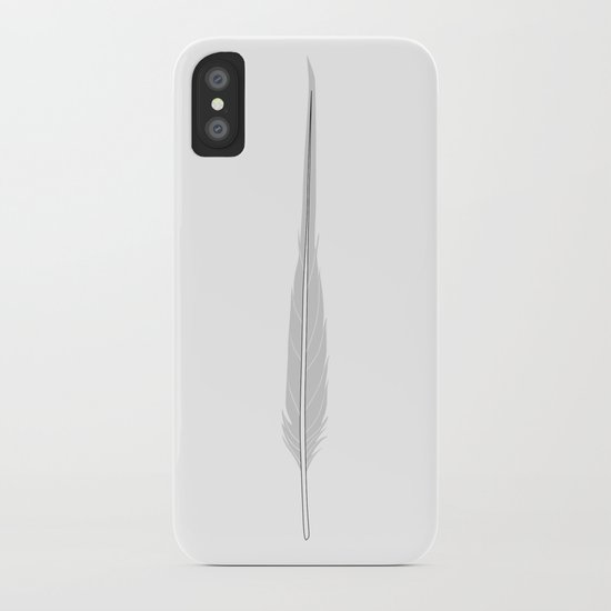 Grey Little Feather iPhone Case
