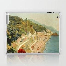 Vintage Travel Ad Amalfi Italy Laptop & iPad Skin