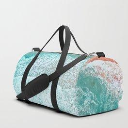 The Break - Turquoise Sea Pastel Pink Beach III Duffle Bag