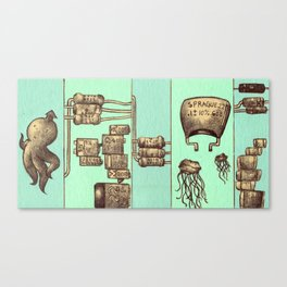 The Squid and The Capacitor Canvas Print