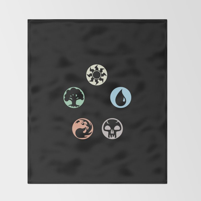 MTG Symbols Throw Blanket