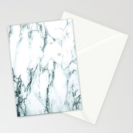Green Marble Look Stationery Cards