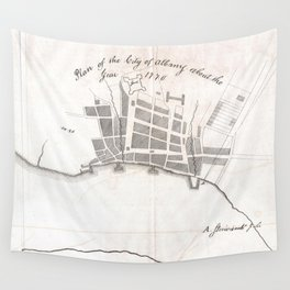 Vintage Map of Albany New York (1770) Wall Tapestry