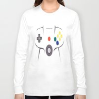 nintendo Long Sleeve T-shirts featuring Nintendo 64 by Bradley Bailey
