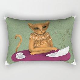busy pretending Rectangular Pillow