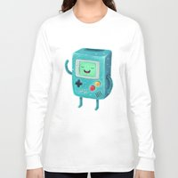game of thrones Long Sleeve T-shirts featuring Game Beemo by Lime