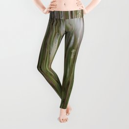 Wispy on green and magenta reeds Leggings