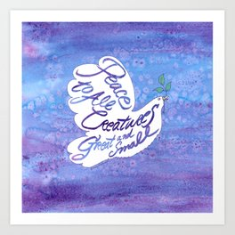 Peace Dove Art Print