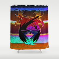 "wings Shower Curtains featuring "" Wings ""  by shiva camille"