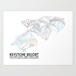 Keystone, CO - Minimalist Trail Map Art Print