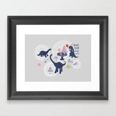 Dinosaur Jello Debutante Party Framed Art Print