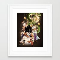 dragonball z Framed Art Prints featuring DragonBall Z by Wahid Nawzadi