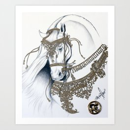 King Horse By Felipe Orozco Art Print