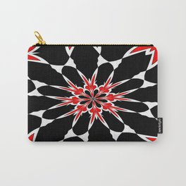 Bizarre Red Black and White Pattern 3 Carry-All Pouch